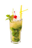 Cocktail di mojito di Apple Fotografie Stock
