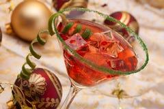 Cocktail di natale fotografia stock
