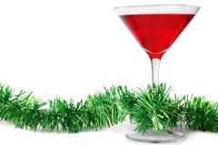Cocktail di natale fotografie stock libere da diritti