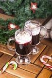 Cocktail di Natale con il gelato Fotografia Stock Libera da Diritti