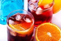 Cocktail di Negroni & di Americano Fotografie Stock