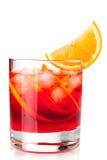 Cocktail di Negroni con l'arancio Immagini Stock Libere da Diritti