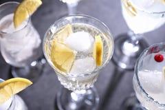 Cocktail di rinfresco differenti Fotografia Stock