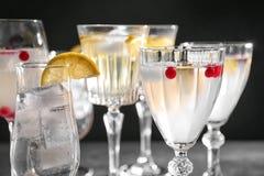 Cocktail di rinfresco differenti Fotografie Stock Libere da Diritti