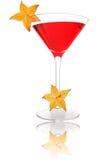 Cocktail di Starfruit fotografie stock