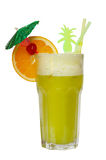 Cocktail die op wit wordt geïsoleerde Stock Afbeeldingen