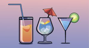A cocktail of different stock illustration