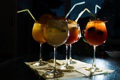 Cocktail differenti analcolici Immagine Stock