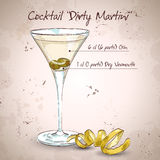 Cocktail Dirty Martini Royalty Free Stock Photography