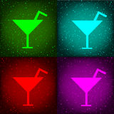 Cocktail disco party sign Stock Image
