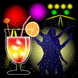 Cocktail and discotheque Royalty Free Stock Photos