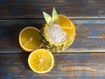 Cocktail do abacaxi Fotos de Stock Royalty Free