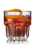 Cocktail do alcoólico de Negroni fotografia de stock royalty free