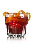 Cocktail do alcoólico de Negroni foto de stock