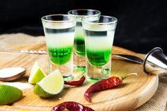 Cocktail do alcoólico do tiro foto de stock royalty free