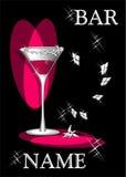 Cocktail do amor ilustração stock