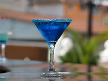 Cocktail do azul do verão Fotografia de Stock