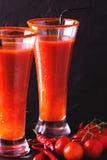 Cocktail do Bloody Mary com pimenta de pimentão, gelo e selery Imagens de Stock