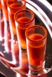 Cocktail do Bloody Mary com pimenta, gelo e aipo de pimentão Imagens de Stock Royalty Free