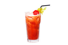 Cocktail do Bloody Mary com tomate e aipo Foto de Stock