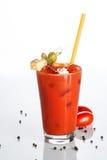 Cocktail do Bloody Mary em um fundo branco Fotos de Stock Royalty Free