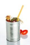 Cocktail do Bloody Mary no círculo do ferro em um branco Fotos de Stock