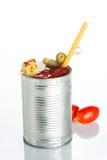 Cocktail do Bloody Mary no círculo do ferro em um branco Foto de Stock Royalty Free