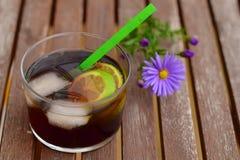 Cocktail do cal da cola Imagem de Stock