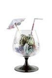 Cocktail do dinheiro imagem de stock royalty free
