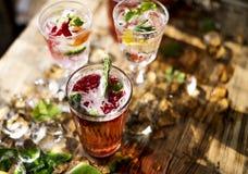 Cocktail do frescor da bebida do suco de fruta mixa imagens de stock royalty free