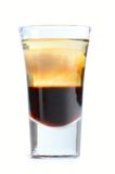 Cocktail do álcool isolado no branco Imagem de Stock Royalty Free