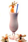 Cocktail do leite com laranja imagens de stock royalty free