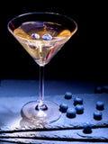 Cocktail do mirtilo no fundo preto 52 Fotografia de Stock