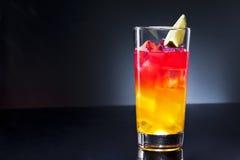 Cocktail do nascer do sol do Tequila Fotos de Stock Royalty Free