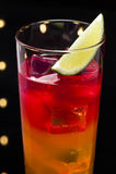 Cocktail do nascer do sol do Tequila Fotografia de Stock
