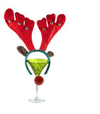 Cocktail do Natal imagens de stock royalty free