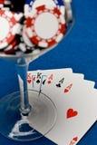 Cocktail do póquer Foto de Stock