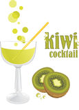 Cocktail do quivi Foto de Stock Royalty Free