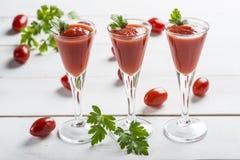 Cocktail do suco de tomate Fotografia de Stock Royalty Free