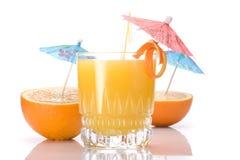 Cocktail do sumo de laranja fotografia de stock