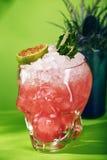 Cocktail do zombi no fundo verde Imagens de Stock