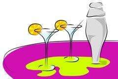 Cocktail - dois vidros Foto de Stock Royalty Free