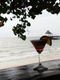 Cocktail door het overzees Royalty-vrije Stock Afbeeldingen