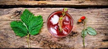 Cocktail dos morangos silvestres Fotografia de Stock