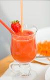 Cocktail doux de fraise Images libres de droits