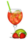 Cocktail dream of fruit Stock Images