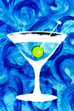 Cocktail drink. Blue illustration of a cocktail drink Royalty Free Stock Photos