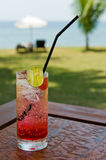 Cocktail drink on the beach Stock Image