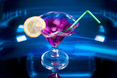 Cocktail drink on blue Royalty Free Stock Images