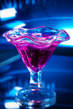 Cocktail drink on blue Royalty Free Stock Image